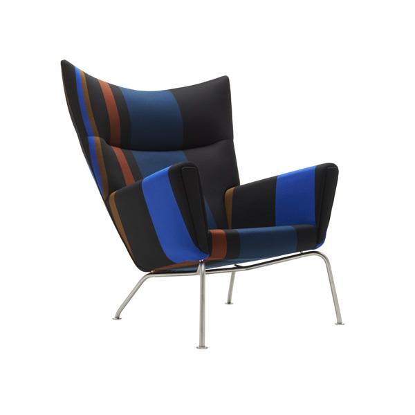 Полосатое кресло Wing.