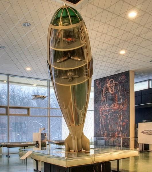 Модель ракеты Циолковского в Музее Космонавтики. Источник фото: bucharsky.ru