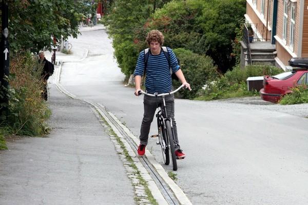 Лифт для велосипедистов в Тронхейме. Источник фото: nablizo.com