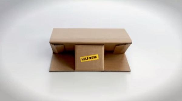Портфель-парта из переработанного картона.