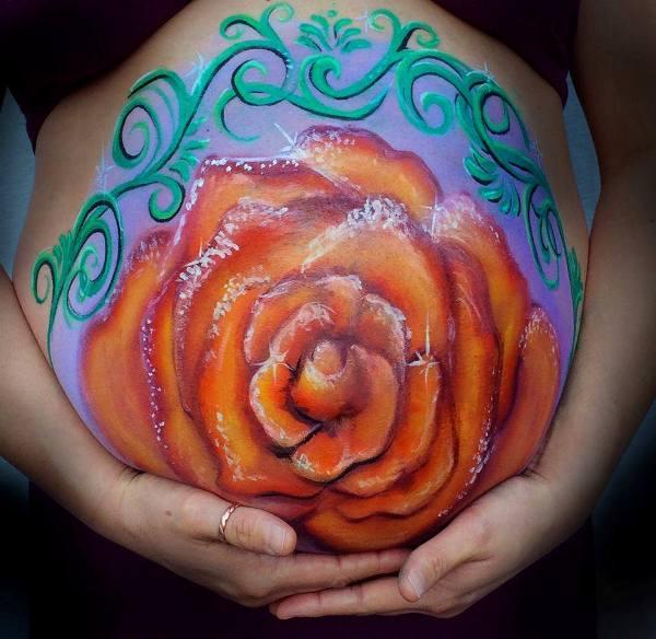 Бодиарт для беременных.