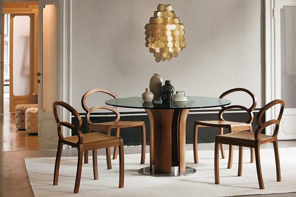 Потрясающие обеденные столы со скульптурной основой