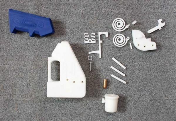 Детали напечатанного на 3D-принтере пистолета Liberator