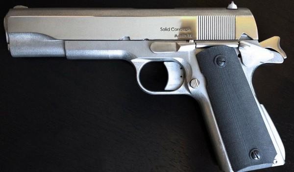 Напечатанный на 3D-принтере пистолет Colt M1911 от Solid Concepts