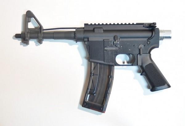 Винтовка AR-15 с напечатанными на 3D-принтере деталями