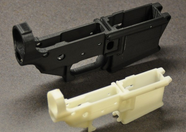 Напечатанные на трехмерном принтере детали винтовки AR-15