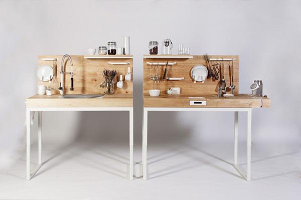 Компактная кухня для инвалидов и пожилых людей.