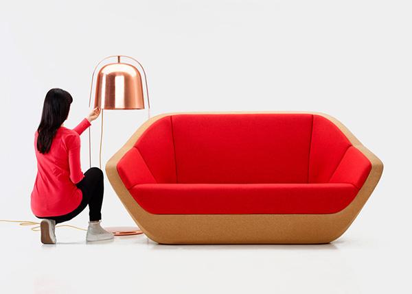 Модель дивана от Lucie Koldova.