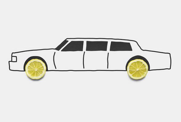 Лимон - колеса.