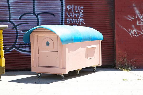 Миниатюрное жилье для бездомных.