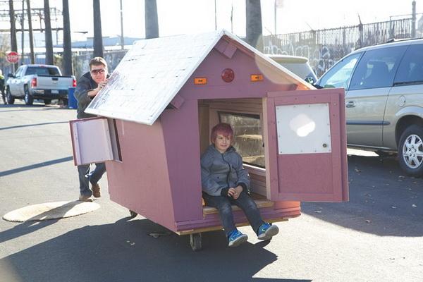 Оригинальное жилье для бездомных.