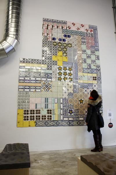Мозаика из керамической плитки.
