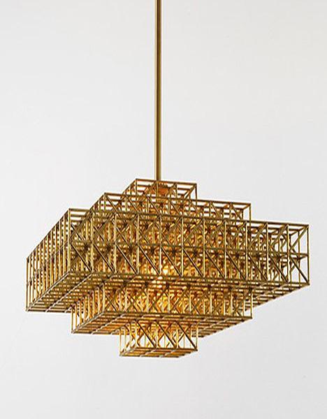 Латунные светильники от Philippe Malouin.
