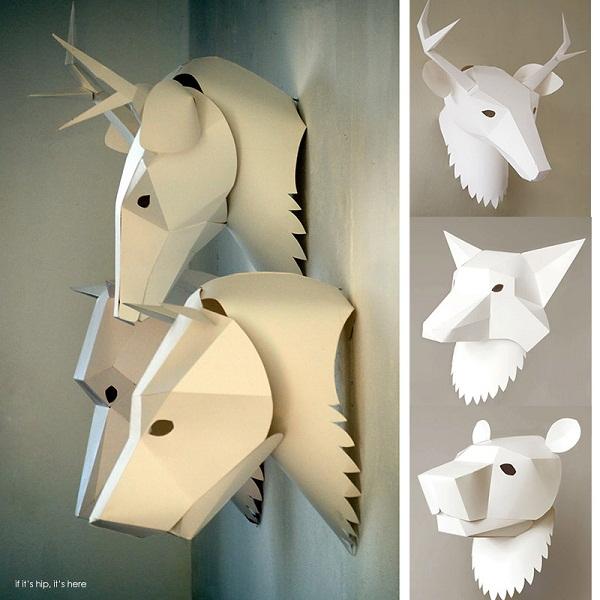 Бумажные маски животных.
