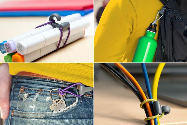 Резинки с крючками: универсальный способ фиксации мелочей.