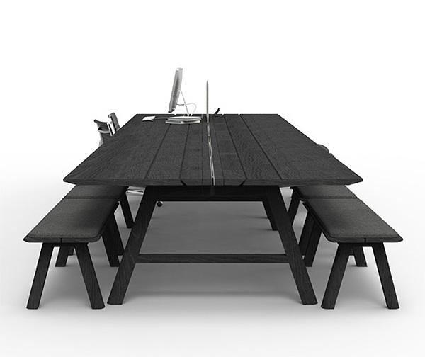 Оригинальные столы от Alain Gilles.