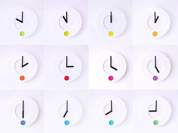 Настенные матовые часы с цветовым индикатором.