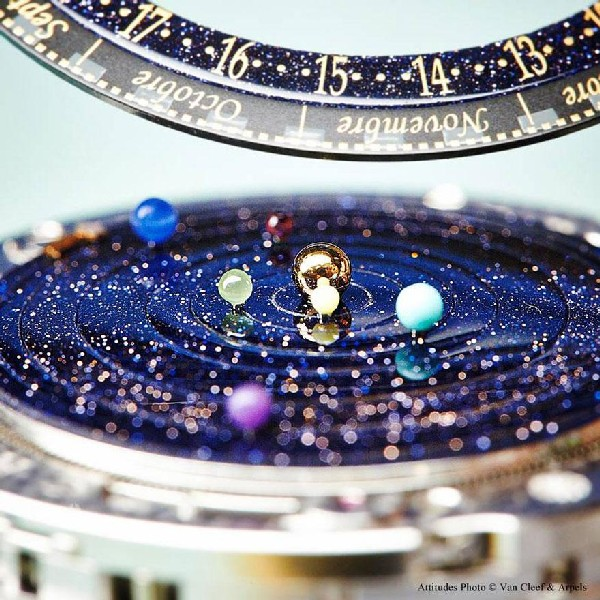 Наручный планетарий: часы в виде солнечной системы