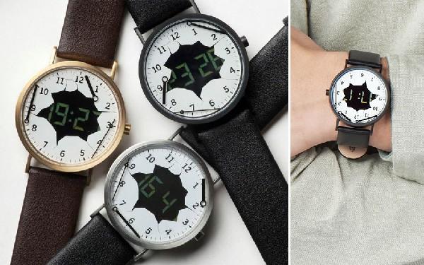 Оригинальные наручные часы с разбитым циферблатом