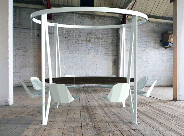 Круглый стол от Daffi London.