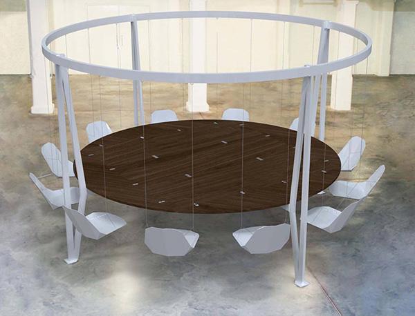 Стальной стол от Daffi London.