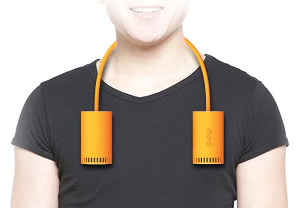 Силиконовый шнур позволяет разместить динамики даже на шее.