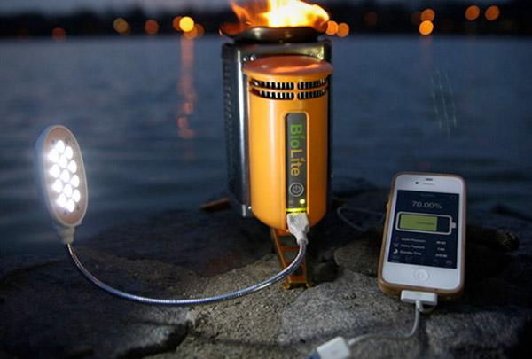 Газовая горелка для зарядки гаджетов