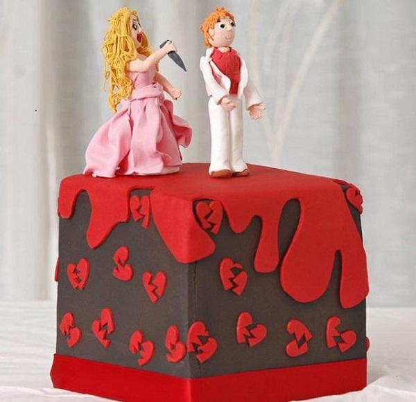 Развод: оригинальный торт для празднования.