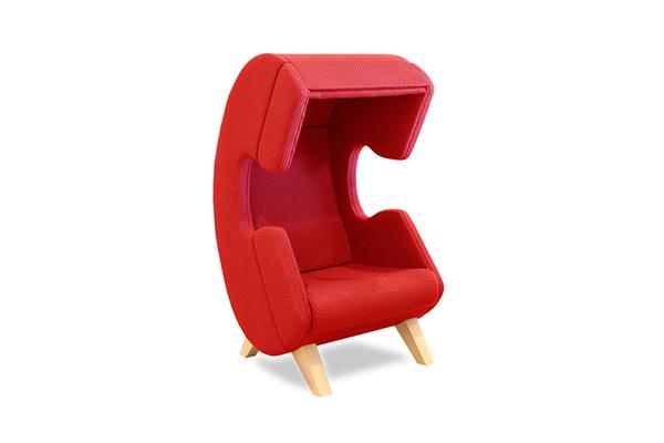 Яркие кресла-телефоны для EASY Noise Control.