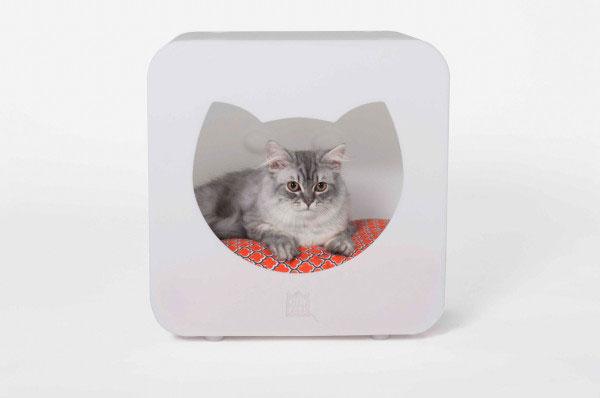 Яркие модульные домики для кошек.