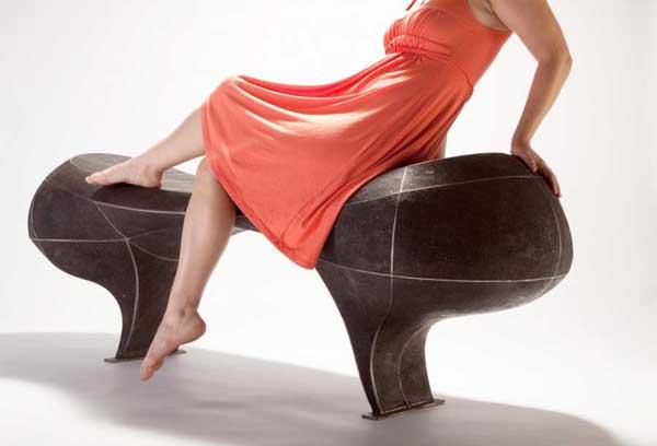 Оригинальные скульптурные лавочки от Вивьен Бир
