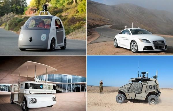 Беспилотные автомобили от разных производителей