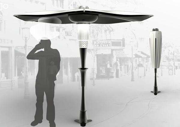 Spiro Air Cleaner – уличный зонтик против табачного дыма