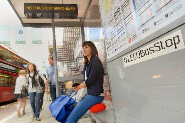 Остановка, созданная по случаю празднования года автобуса в Лондоне.