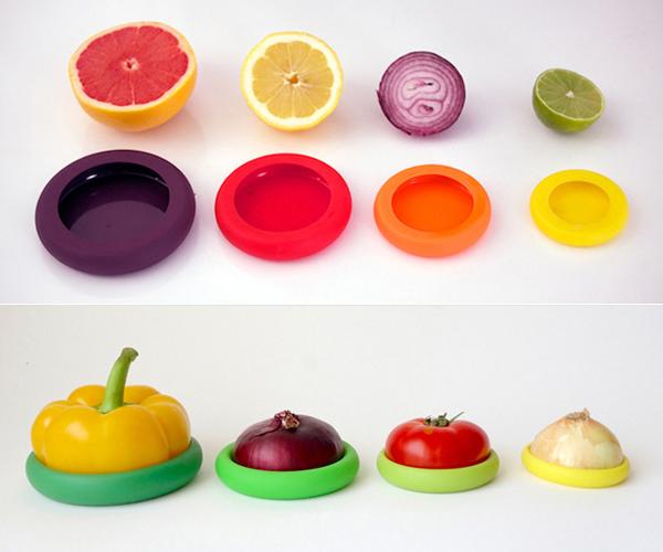 Удобная емкость для хранения разрезанного овоща или фрукта.
