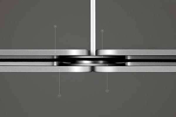 Светильники, состоящие из алюминиевых пластин.