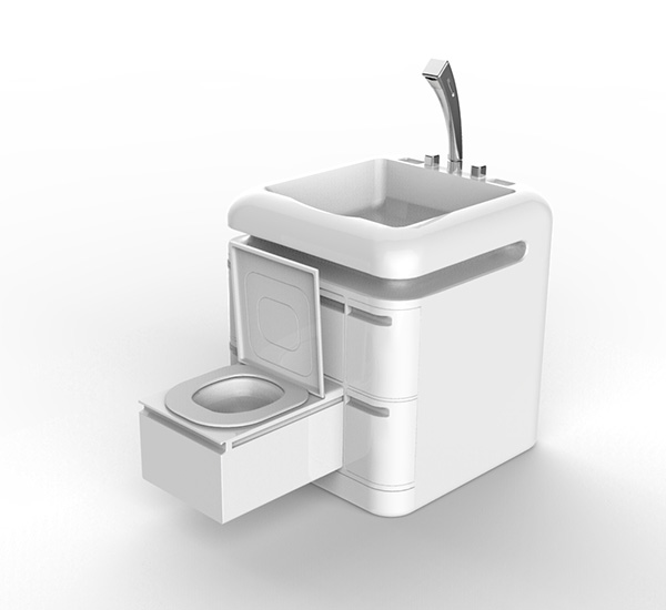 Q-Compact Toilet - выдвижной туалет.