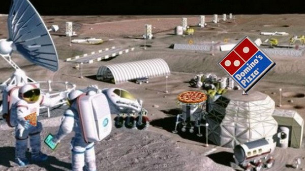 Лунная пиццерия сети Domino's Pizza