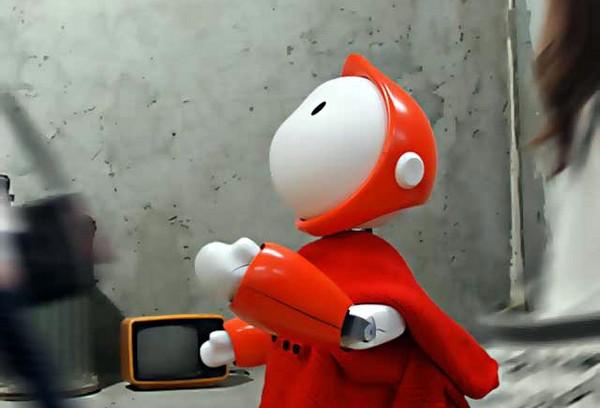 DONA – робот-попрошайка