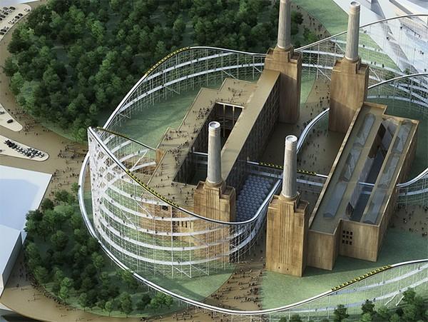 Battersea Power Station: американские горки вместо электростанции