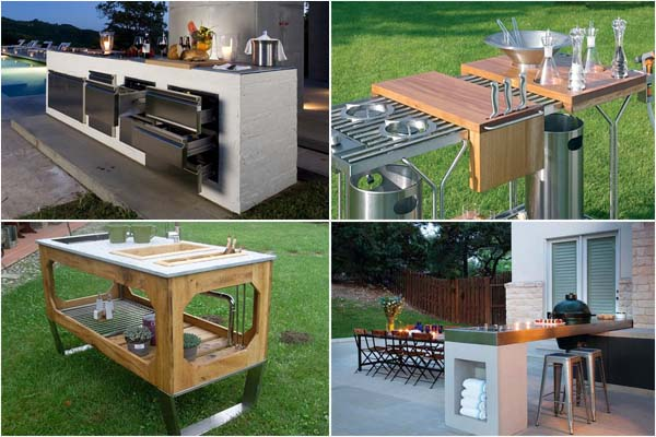Готовим на свежем воздухе: современные кухни  для сада