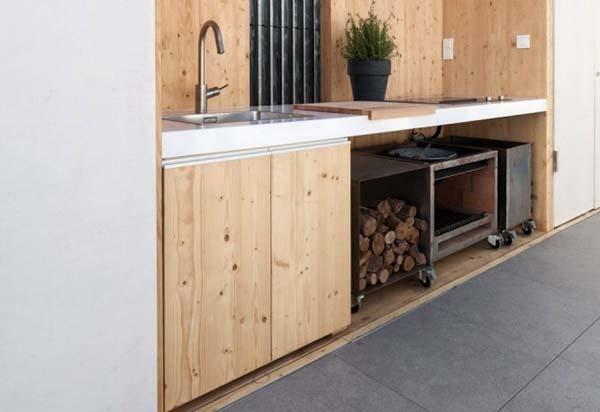 Летняя кухня в уголке
