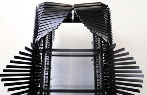 Шкаф из 400 реек от Sebastian Errazuriz.