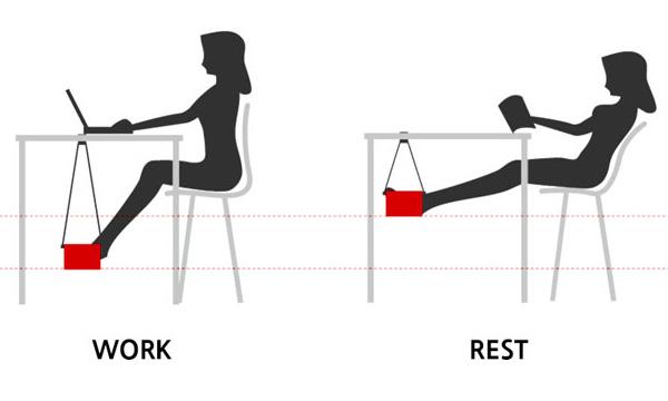 Позиции, предлагаемые для комфортной работы и отдыха.