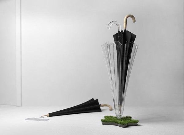 Зеленая подставка для зонта.