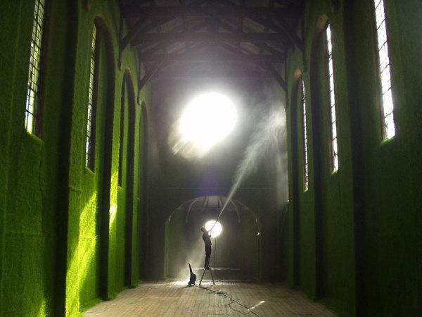 Зеленый интерьер.
