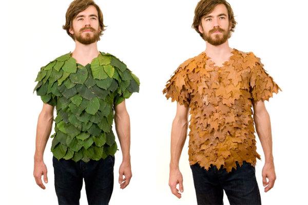 Рубашка из листьев.