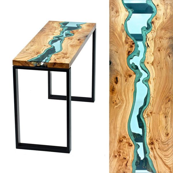 Стол с комбинированной столешницей от Greg Klassen.