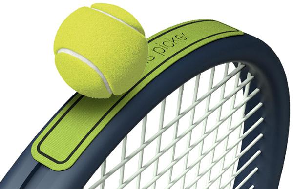 Наклейка-липучка на теннисную ракетку.