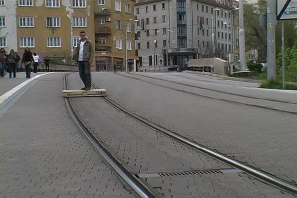 Личный трамвай на основе деревянного поддона
